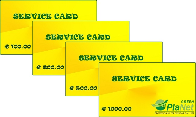 SERVICE CARD Green Planet